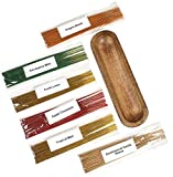 Hosley 120 Assorted Highly Fragranced Incense Sticks and 12 Inch Long Wood Trough Double Incense Stick Holder. Ideal Gift for Home Warming Spa Reiki Garden 06
