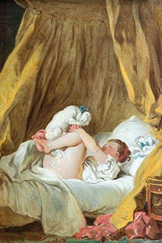 1art1 Jean-Honoré Fragonard - La Gimblette, Mädchen Mit Hund, 1770-1775 Selbstklebende Fototapete Poster-Tapete 180 x 120 cm