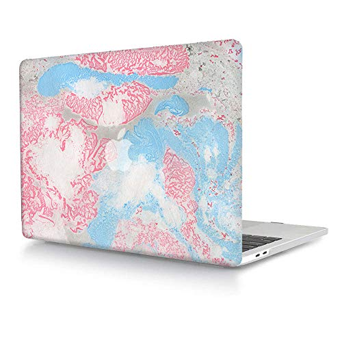 Hard Case Compatible with MacBook Pro Retina 15 inch (Model: A1398,Release 2015 - end 2012), AJYX Plastic Hard Shell Cover for Older Version MacBook Pro 15 with Retina Display - Pink & Blue