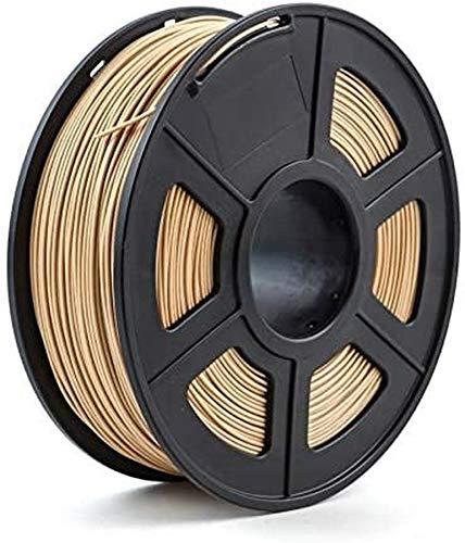 Wghz Filamento Stampante 3D 1,75 mm 1 kg/2,2 libbre PLA PETG TPU Nylon Fibra di Carbonio Conduttivo ABS PC Pom ASA Legno Fianchi PVA Plastica Filamento Colore: Legno