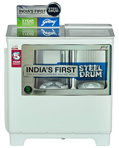 Godrej WS 800 PDS Semi-automatic Top-loading Washing Machine (8 Kg, Lilac Sprinkle)