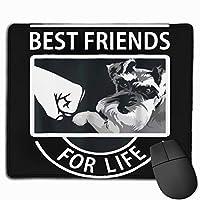 Schnauzer Best Friends For Life マウスパッド 多用途の 耐久性が良い ゲーム オフィス用滑り止めラバー厚手マット 25x30x0.3cm