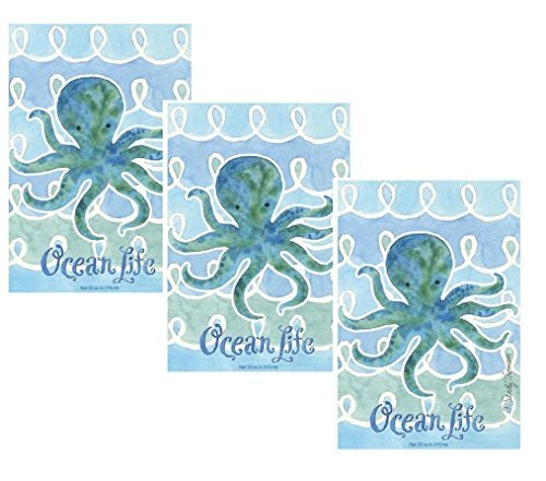 Fresh Scents by Terri Pack of 3 Large Scented Sachet Ocean Life