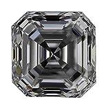 GIA Certified Asscher Cut Natural Loose Diamond 1.01 Carat I Color VVS2 Clarity - 1 1/2 Ct