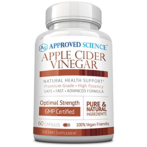 Approved Science® Apple Cider Vinegar with Mother and Piperine - Helps Detoxify, Boost Metabolism, & Reduce Inflammation - 1 Vegan Friendly Bottle