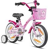 Prometheus Mädchenfahrrad 14 Zoll mit Stützräder Kinderfahrrad ab 3-4 Jahre Mädchen Rücktritt...