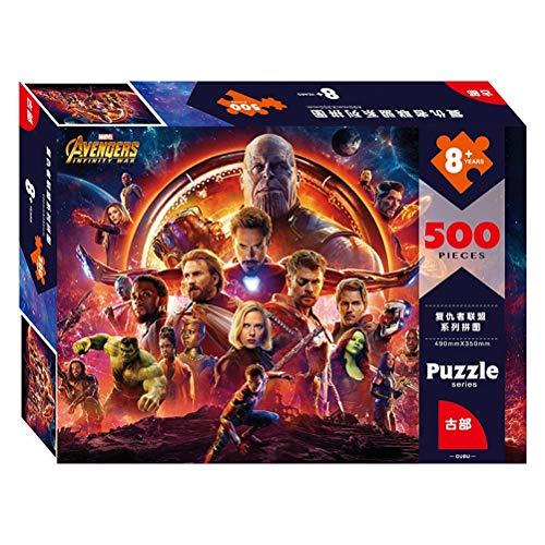 WLH- Furubu Marvel Adult Puzzel 500/1000 Stukken Avengers Hero Boy Toy Verjaardagscadeau Adult Decompressie (Color : 500pc)