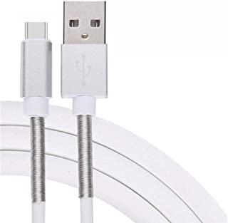 Tpingfe Spring Anti Break Type-C 3.1 Data Charger Charging Cable Cord For Phone (White)