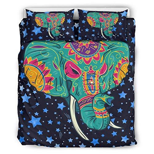 Boji - Juego de fundas de edredón acolchadas, transpirables, cómodas, colchas acolchadas, juego de ropa de cama de 3 piezas para niños y niñas, juego de ropa de cama de 104 x 90 pulgadas