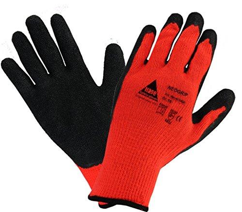 strongAnt Arbeitshandschuhe Thermo Winter-Handschuhe NEOGRIP für Montage. Handschuh aus Baumwolle/Polyest, Schutz gegen mechanische Gefahren, Kühlhaus, Kälteschutz - Größe: 10