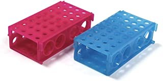 ULAB Plastic Multipurpose 3-Way Centrifuge Tube Rack Set, 2 Colors Red Blue, PP Material, Suitable for Tubes of Dia.≤30mm, UTR1017
