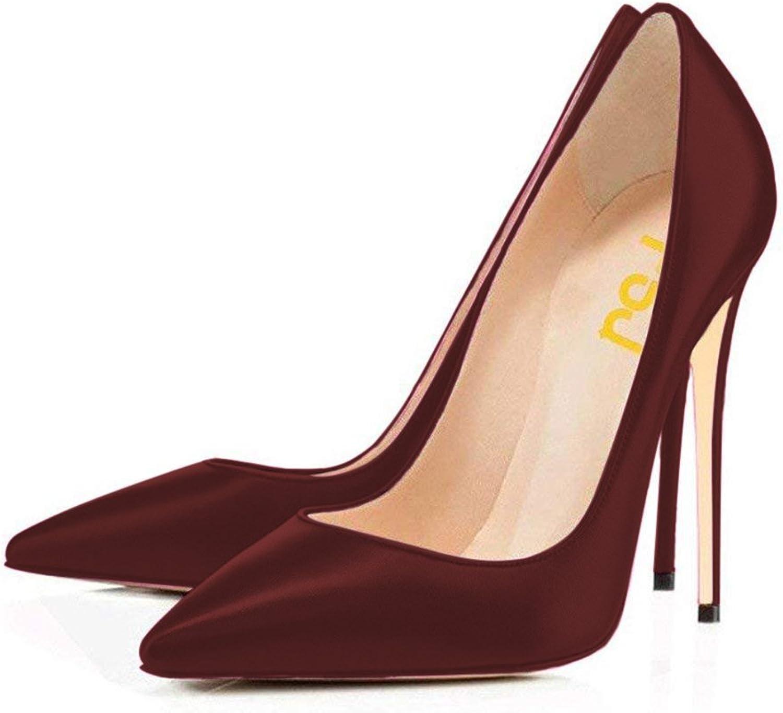 FSJ Multicolor Print Pumps Pointy Toe High Heels Stilettos Dress shoes Size 4-15