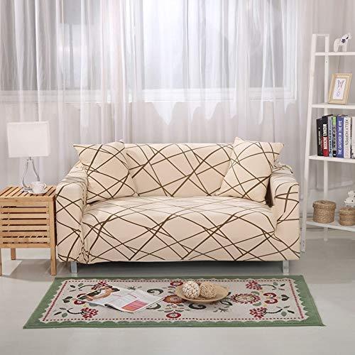 WXQY Funda de sofá elástica Funda de sofá elástica Silla Funda de sofá en Forma de L, Todo Incluido Funda de sofá de Esquina sillón sofá Toalla A20 3 plazas