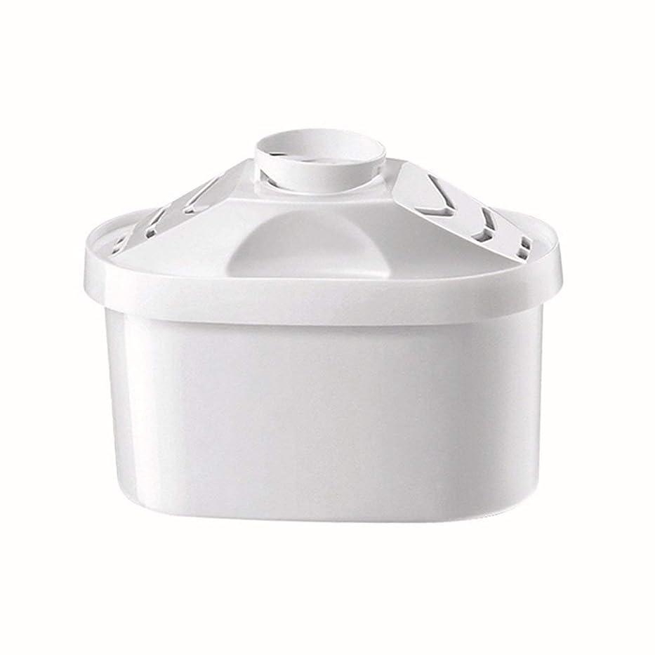 美容師きちんとしたあいまいなSaikogoods ブリタの水のピッチャーのためのケトルフィルター 活性炭 水フィルターカートリッジ 健康的なクリーンデバイスを 精製 白