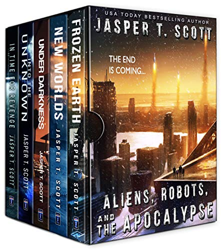 Aliens Robots and The Apocalypse (A Five Book Bundle) by [Jasper T. Scott, Tom Edwards, Aaron Sikes]