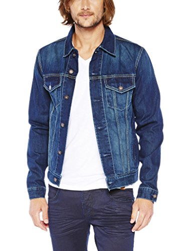 Colorado Denim Herren Jeansjacke Yukon-GOTS Zertifiziert Jacke, Blau (Dark Stone Used 6030), Large