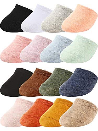 SATINIOR 16 Pairs Toe Topper Liner Half Socks Women Cotton Toe Cover Half Socks Colorful, Multicoloured, Medium