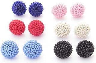 400 Black glass seed beads SB12