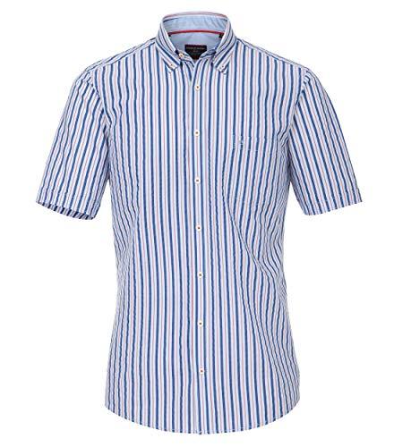 CASAMODA - Camisa de manga corta para hombre, corte cómodo azul oscuro L