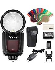Godox V1-F TTL - Flash de cabeza redonda autoflash 76 Ws Speedlite HSS 1/8000s con batería de litio para cámaras Fujifilm