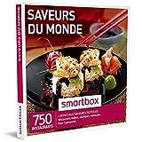 SMARTBOX - Coffret Cadeau homme femme couple - Saveurs du monde - idée cadeau - 750 restaurants : 1 repas exotique pour 2