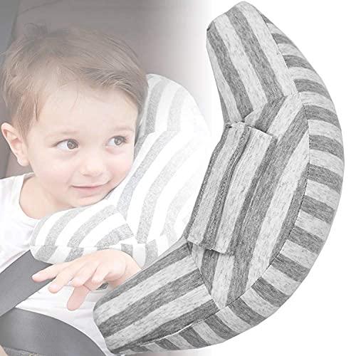 Auflosung Cuscino per Cintura di Sicurezza, Protezione per Cintura di Sicurezza, Sicurezza in Auto per Bambini Cuscino Spalla Cuscino Cintura, Cuscino Poggiatesta per Viaggi in Auto (Grigio)