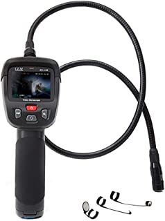 CEM BS-128 Digital Borescope Camera, Gooseneck Industrial Endoscope Waterproof Video Borescope Inspection Camera, 2.4'' Color TFT LCD