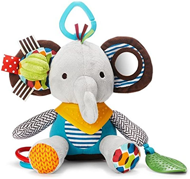 Skip Hop Bandana Buddies Baby Activity And Teething Toy With Multi Sensory Rattle And Textures Elephant