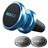 MEIDI Air Vent Phone Holder, Universal Magnetic Phone Car Mount 360 Rotation Cell Phone GPS Holder Compatible iPhone Samsung HTC and Mini Tablets (Blue)