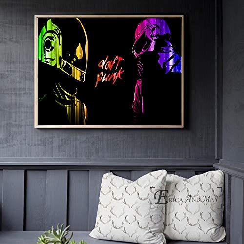 ganlanshu Casco música Cartel e impresión Lienzo Arte Mural salón decoración hogar decoración,Pintura sin marco-60X80cm