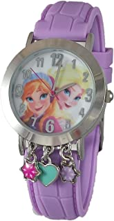 Frozen Elsa and Anna Analog Watch with Charms