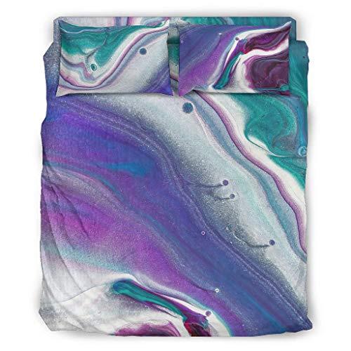 Generic Branded Lightweight duvet - 4-piece duvet cover set for children, white, 203 x 230 cm.