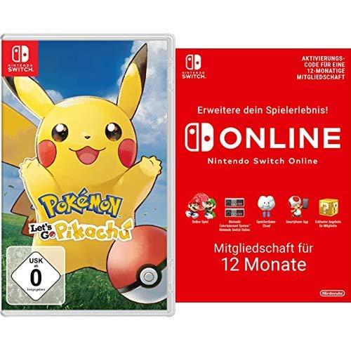 Pokémon: Let´s Go, Pikachu! [Nintendo Switch] + Switch Online Mitgliedschaft 12 Monate [Switch Download Code]