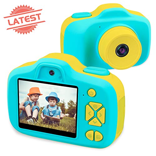 Joytrip Kids Digital Cameras for Boys Girls Gifts HD 2.3 Inches Screen 12MP Video Camera for Kids Shockproof Children Selfie Toy Mini Camera Camcorder Child for Boys Age 3-14 (Blue)