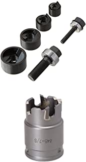 Greenlee 7235BB Slug-Buster Manual Knockout Kit for 1/2 to 1-1/4-Inch Conduit& Greenlee 645-7/8 Quick Change Stainless Steel Hole Cutter, 7/8-Inch