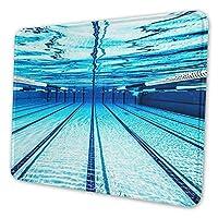 マウスパッド オリンピック水中プール, 疲労低減マウスパッド 耐久性が良い 滑り止めゴム底 滑りやすい表面 マウス用パット