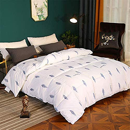Fulinmen Winter Duvet Double,Duvet Autumn And Winter Warm Quilt Stylish Simple Microfiber Thicker Feather Velvet Quilt-4200 * 230Cm-3Kg