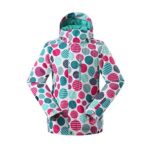 Winddicht ski-jack voor dames, winter- en vrijetijdsjas, functionele jas, mantel voor buiten, waterdicht, voor bergen, wandelen, reizen, sport, ideaal in de winter