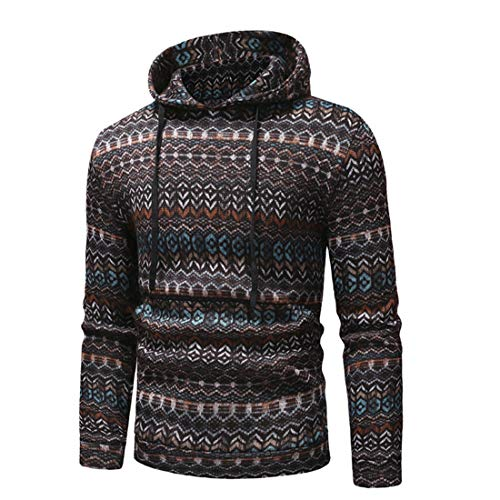 MENHG Mens Knitted Sweatshirts Hoodies Hoody Thick Warm Fleece Hooded Men Long Sleeve Drawstring Solid Colour Retro Casual Sports Hoody Jumper Knitwear Sweater Pullover Jacket Top Blouse Coat Outwear