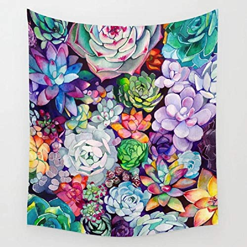 Tapiz suculento tapiz de jardín Toalla de playa Manta de picnic Estera de yoga Tapices de impresión Colgante de pared Decoración del hogar 150x100cm