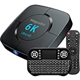 Android TV Box 10.0 Magcubic Smart TV Box 4GB RAM 32GB ROM Chipset H616 Supporto 1080P Ultra HD 4K 6K 3D HDR Dual Wifi 2.4G 5.8GHz BT 4.1 Box TV Android Con Mini Tastiera Wireless