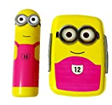Clic-Tite DS Plastic Minion Lunch Box with Pencil Box, Medium (Yellow and Pink)