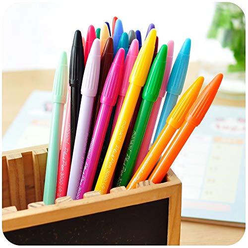 24 plumas de gel de color Monami plus pen Papelería coreana Canetas papelaria Zakka regalo Material escolar Material escolar 6261