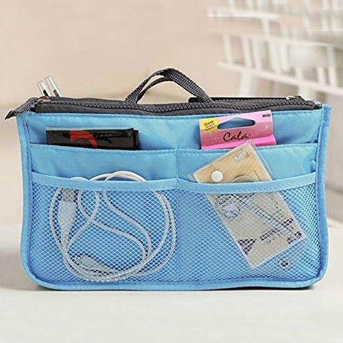 Sac à main portable multifonction sac dans sac organisateur organiseur organiseur organiseur poche cosmétique de voyage