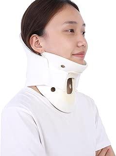 Neck Stretcher Collar Adjustable Neck Brace Soft Cervical Support for Vertebrae Neck Pain Relief(M)