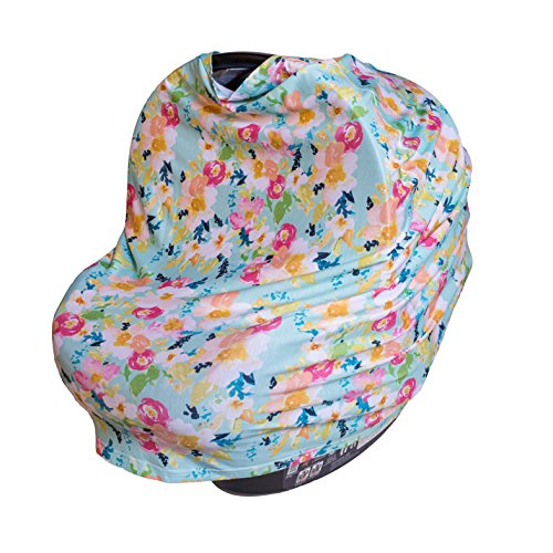 ROSIE POPE 5-in-1 Multi-Use Car Seat Cover, Mint Floral