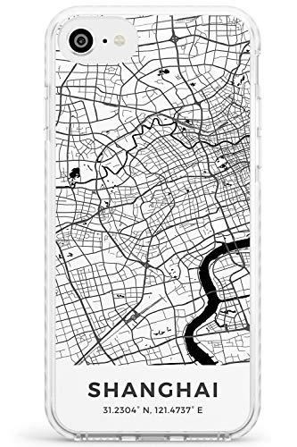 Hülle Warehouse Karte von Shanghai, China Impact Hülle kompatibel mit iPhone 7/8 / SE TPU Schutz Light Phone Tasche mit Reise Fernweh Europa Stadt Streets