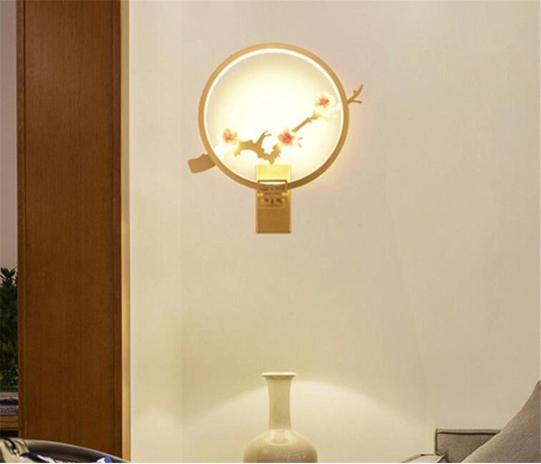 Modernes, minimalistisches Wandleuchte Schlafzimmer Nachttischlampe Gang LED Augenschutz, Gold, 25 X 33 X 11 cm