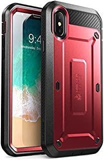SUPCASE Unicorn Beetle Pro Series Case Designed for iPhone X, with Built-In Screen Protector Full-body Rugged Holster Case...
