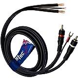 1stec Câbles pour tourne-disque 1,5 m RCA + terre à extrémités nues.